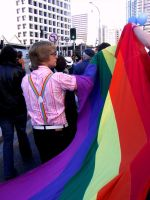 Gay Marriage Rally 2 by Rosary0fSighs