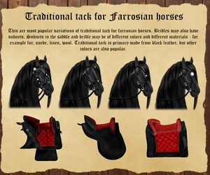 Traditional tack for Farrosian horses by Efirende
