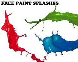 Free paint splashes by genotas
