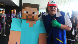 Ash Ketchum Meets Minecraft Guy by mitchell00