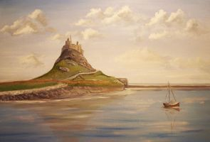 Lindisfarne Castle by NorthumbriaArt