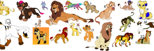 FREE Adoptable Raffle -Lions,Dogs,Wolfs,Pony,Cats by KovuTheLionKing