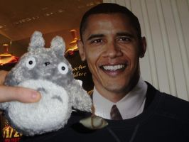 Totoro meets Obama by StudioGhibli123