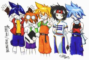 Beyblade - Team BBA by stephymoo