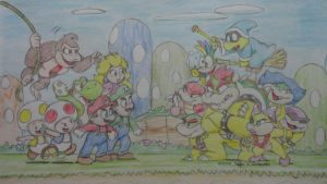 Super Mario, Good vs Evil by joaoppereiraus