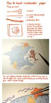 Paper Embroidery Tutorial by Paperflower86