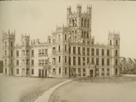 Highclere Castle 'Downton Abbey' II larger drawing by NicholasKhanart