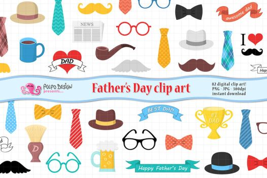 Father's Day clip art by PolpoDesign