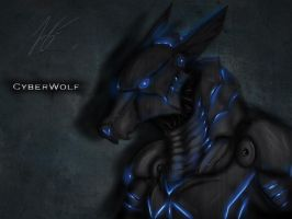cyberwolf by joshsmithstudio