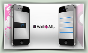 minimal_grey_blue_iPhone by WallforAll