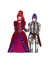 Queen and knight by Fralle-chan