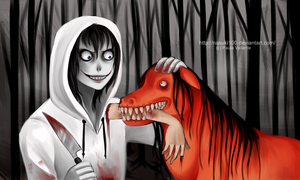 Good boy - Jeff the killer n Smile dog by Nasuki100