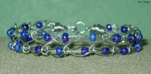 Blue Twist and Beads by LWaite