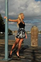 Kristy - wet wharf smile by wildplaces