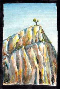 Mountain - Quick Painting by HeroFromMars
