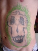Dali women skull by micaeltattoo