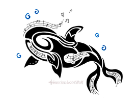 Tribal Musical Orca by Sunrise-LoneWolf