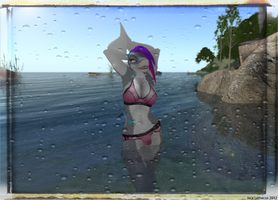 Jayce Camping Midday Swim - Second Life by Jace-Lethecus