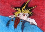 Blood-C Yami: Drinking Blood by katerinaaqu