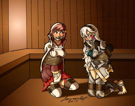 Commission: Sakura and Corrin in a Bind by Geknebelt