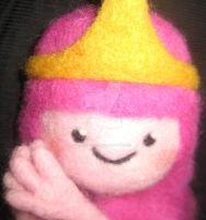 Needle Felted Princess Bubblegum by CatsFeltLings