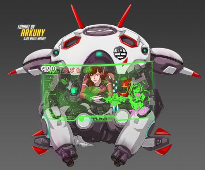 Commission Game On D.Va White Rabbit Overwatch Fan by Arkuny