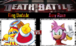 King Dedede vs Amy Rose by SonicPal