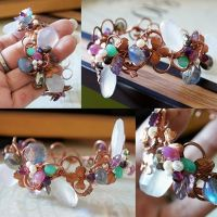 Garden Party Cuff collage by CrysallisCreations