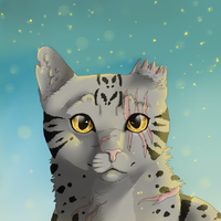 Silverleopard headshot by BoogaMouse