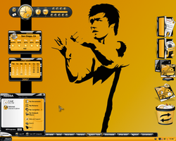 Bruce Lee Desktop by a666a