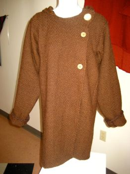 Woven Brown Coat by co1dpaws