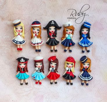 Pirates and sailors, summer dolls collection by Ruby-creations