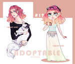 [Adopt:OPEN] #12 + bonus halfbody by mint-cry