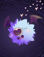 Woobat by jiggly