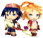 (Fantage) Chrono Cross - Serge and Kid by Fario-P