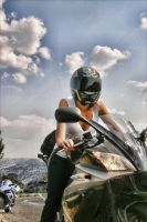 Biker girl by OrionWeb