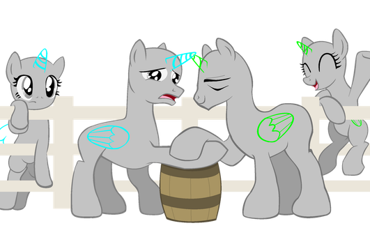 MLP Base - Hoofwrestling by Butterfly-Bases