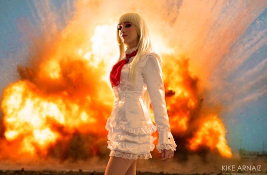 Lili on fire Tekken 6 by Hekady