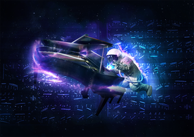 Pianist in Space by PitchGFX