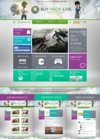 Xbox Live Website Design by princepal