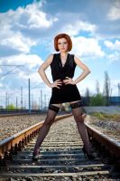 Angie - Railroad shot by makaveli81