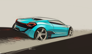 Small sports car by lukas-art