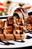 Waffle and Tiramisu Ice Cream by adrielchrist