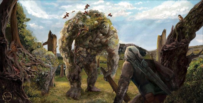 The Witcher  Golem by A-Stas