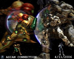 Halo vs Metroid by AznX33