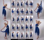 Stock:  Kari 25 elegant dance poses in blue dress by ArtReferenceSource
