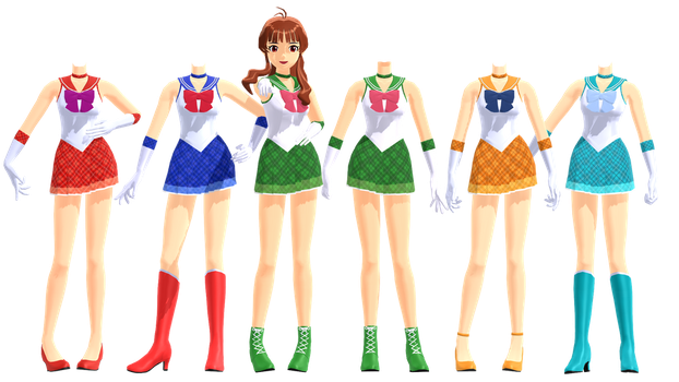 MMD DL Series Sailor Scouts Outfits DL by 2234083174