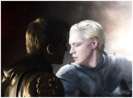 Lion and Lamb - Jaime Lannister x Brienne of Tarth by thecannibalfactory