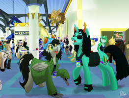AC Pesters Her Meowrail At CanterCon by shrivak