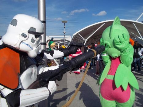 Grovyle vs Storm Troopers by DarknessRavyn